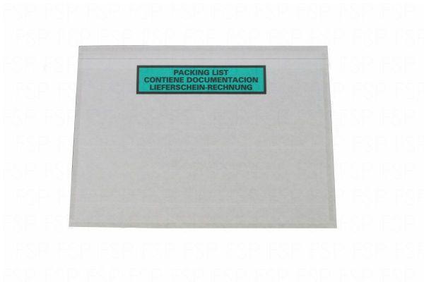 Dokumententasche DIN C5 Papier mit Rechnungshinweis