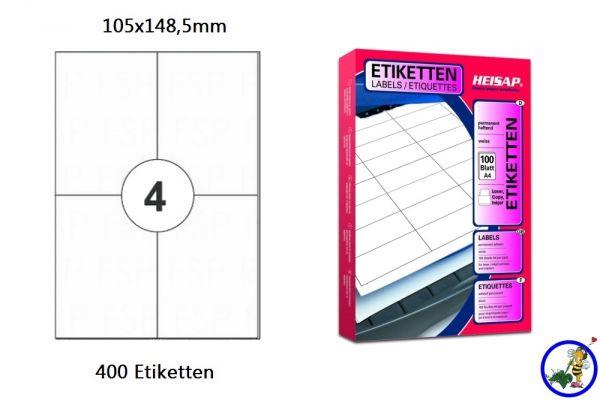 Druckeretikett HEI024 105x148,5mm 100 Blatt